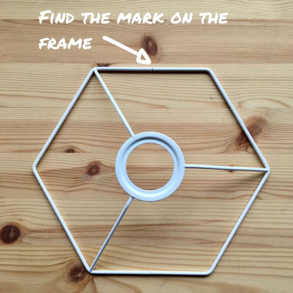 DIY Lampshade tutorial - printing a heart motif - Step 2