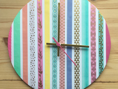 Washi tape clock making kit DIY tutorial