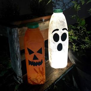 DIY Tutorial - Upcycled Halloween Lanterns