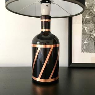DIY tutorial – Bottle lamp adpator + lampbase upcycle