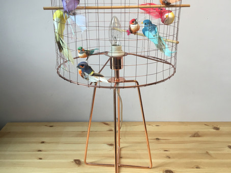 How to make a birdcage lampshade DIY tutorial