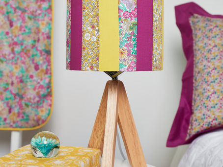 Liberty Patchwork Lampshade DIY Tutorial