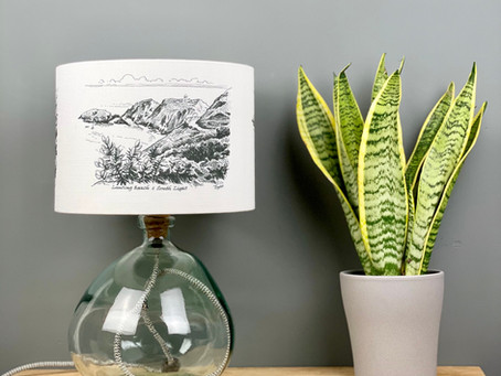 Dannells Digital Lampshade Printing with Tide and Isle