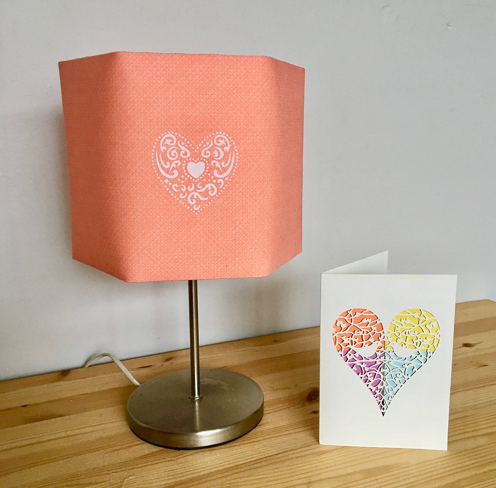 DIY Lampshade tutorial - printing a motif