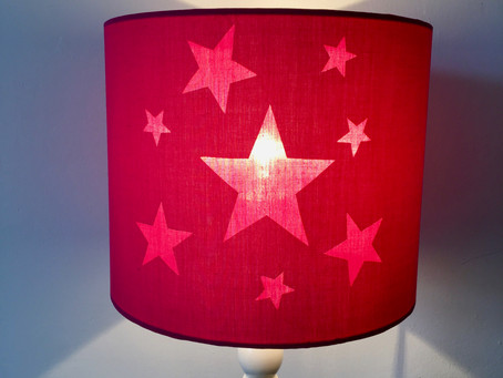 Lampshade Kit Hack #6 - Starry Night Lampshade + FREE Template PDF