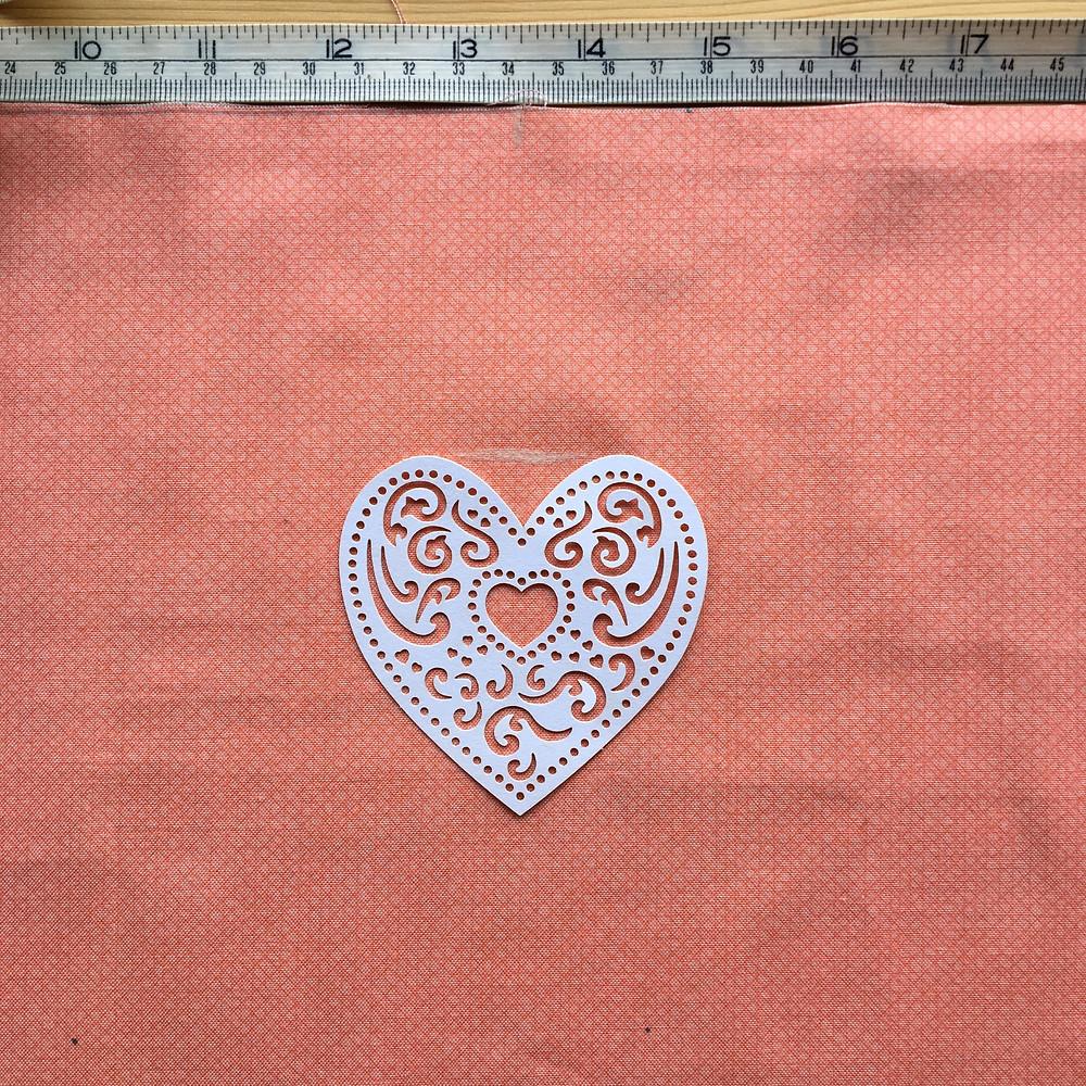 DIY Lampshade tutorial - printing a heart motif - Step 5