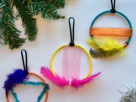 Christmas Decorations -  'Little circles of bright' DIY tutorial