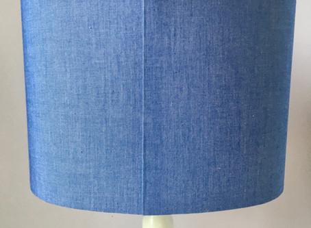 Lampshade kit hack #1 - Folded fabric seam edge tutorial