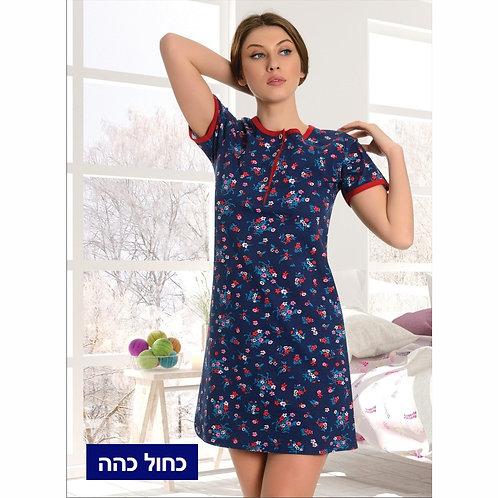 פיג'מה לאשה שמלה קצרה גזרה רחבה