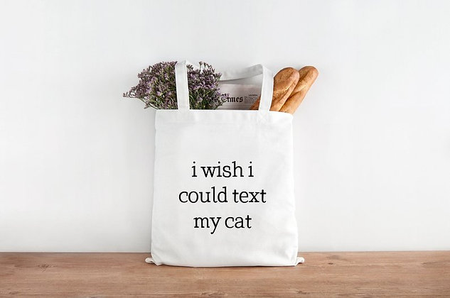Text My Cat Tote Bag