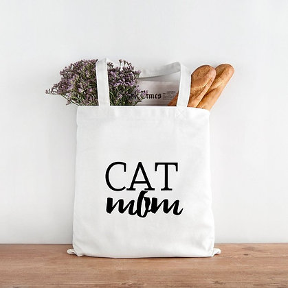 Cat Mom/ Mum Tote Bag