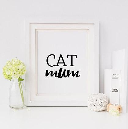 Cat Mum Digital Print