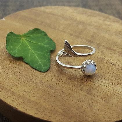 Pale Blue Mermaid Ring