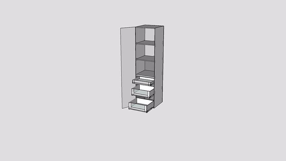 Tall Cabinet 1 Door 3 Inner Drawer