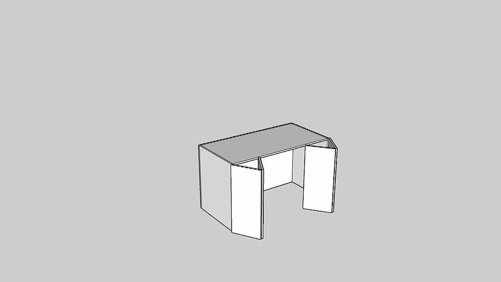 Wood Grain Appliance Cabinet Bi-Fold Door 4 Door