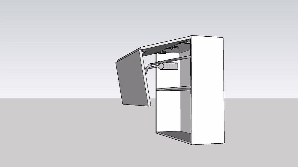 Wood Grain Over Head Cabinet Lift Up 2 Door