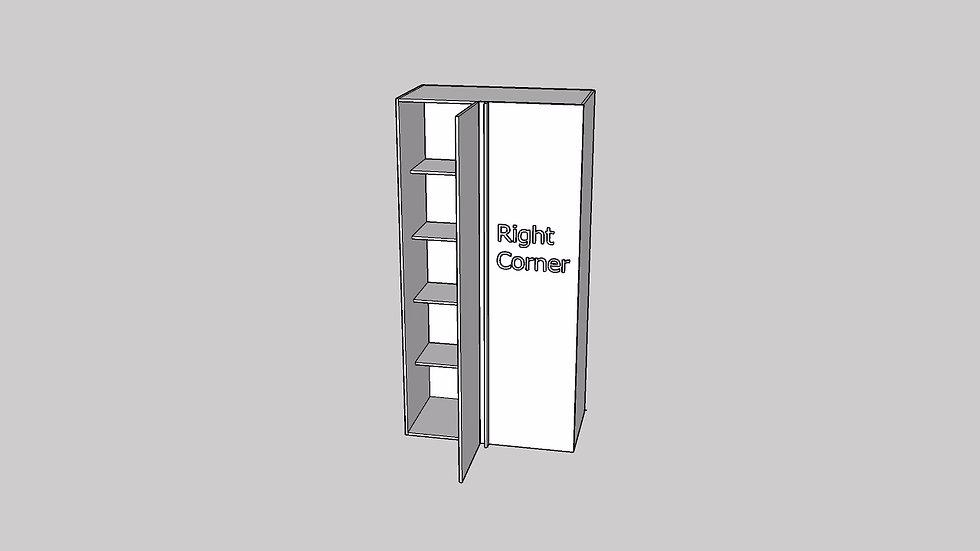 Wood Grain Tall Blind Cabinet 1 Door
