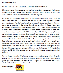 Cronica Cross Sabadell