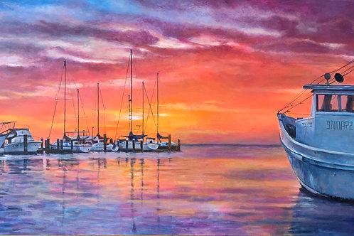 Marina Sunset- Original and Prints