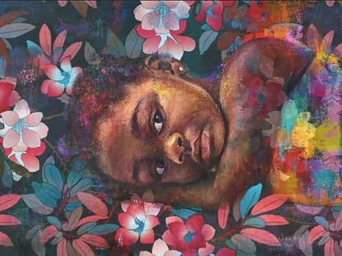 Floral girl - Art Prints