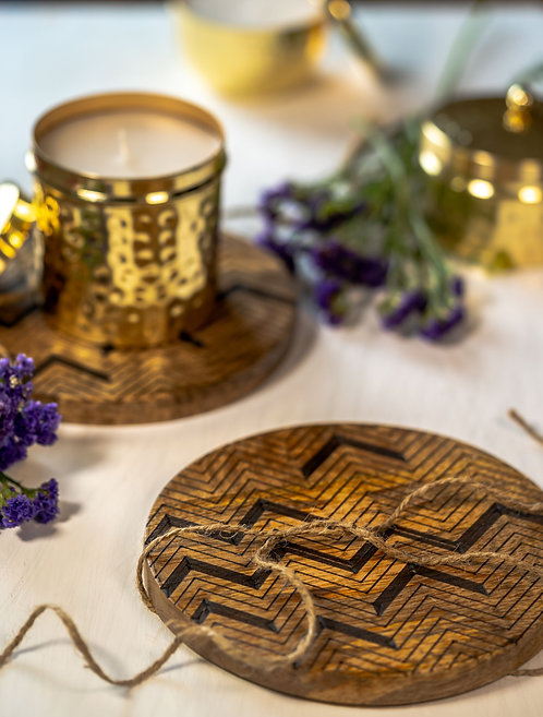 Trivets Wooden Zig-Zag