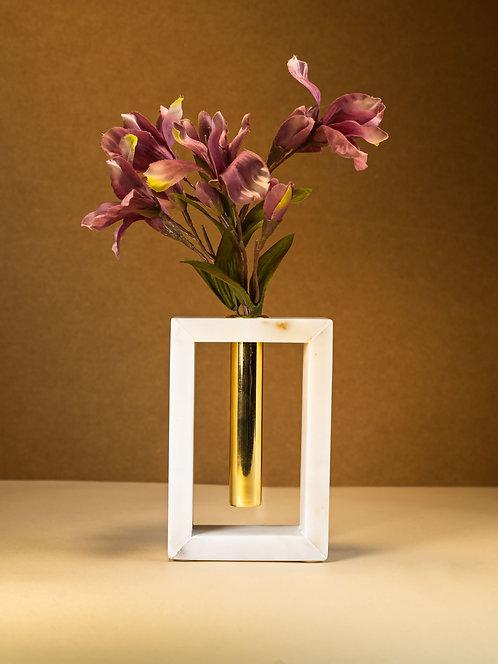 Marble Flower Stem Vase