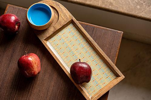 Chip and Dip Platter - Blue Ikat