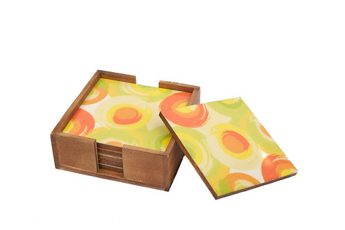Coasters Wooden Citrus