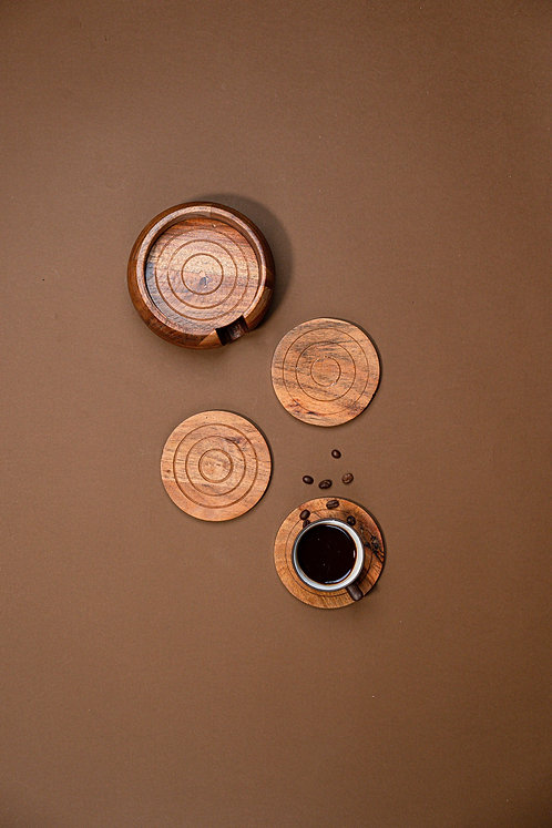 Coasters Wooden Concentric