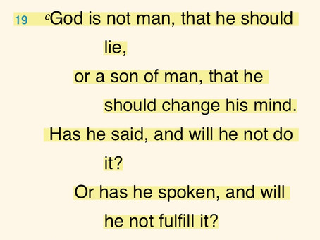 God is NOT a Liar!