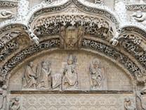 Detalle de la imponente portada renacentista del Colegio de San Gregorio (Valladolid)