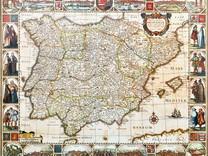 Un mapa de la península Ibérica en tiempos de Tomé Pinheiro.