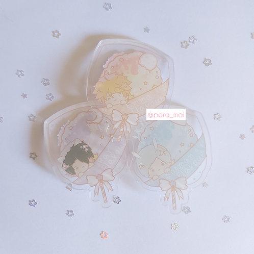 約定的夢幻島 - 棉花糖亞克力襟章
