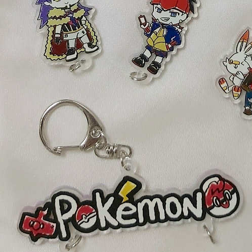 (購買掛件可加5蚊購買優惠)Pokemon字樣掛件 |Pokemon文字アクリルストラップ