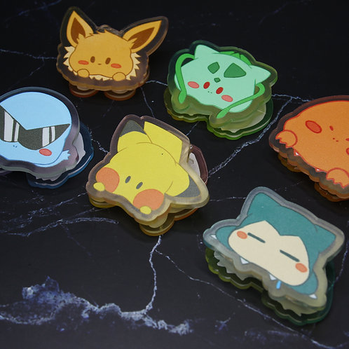 Pokemon 亞克力咬咬夾
