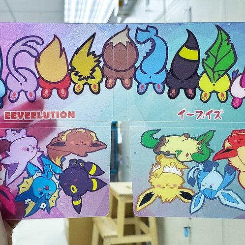 Pokemon  Q版伊貝家族口罩套