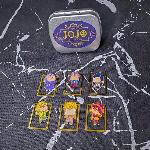 JOJO的奇妙冒險  黃金之風Q版角色金屬書簽