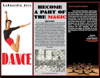 LaGuardia High School Dance Brochure Side 1