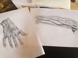Sketches from Dali Pencil on Paper Mastercopies