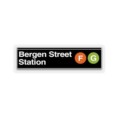 Bergen Street F/G Sticker