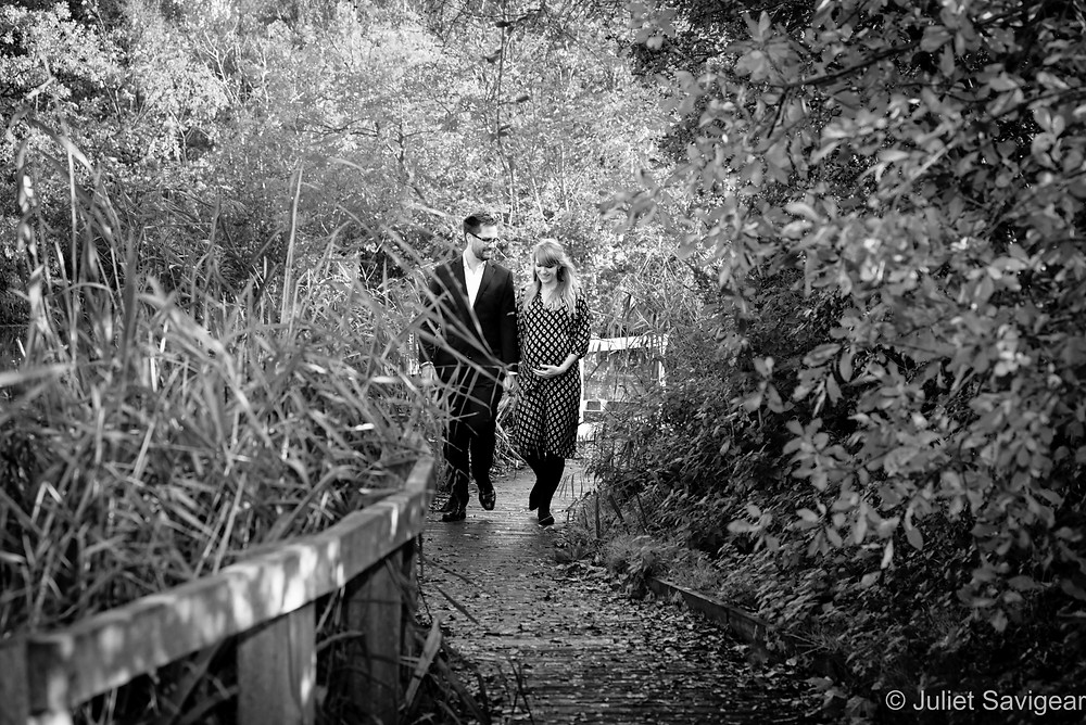 Walking along the Wandsworth Common boardwalks