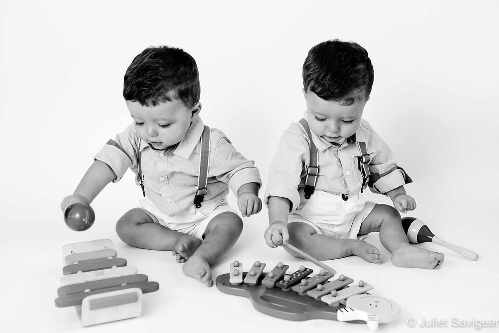 Musical twin boys