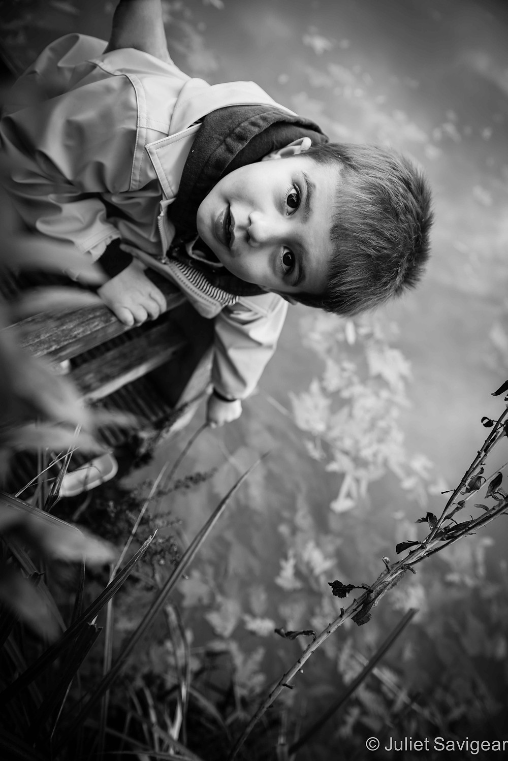 Leaves In The Pond - Children's Photography, Clapham Common