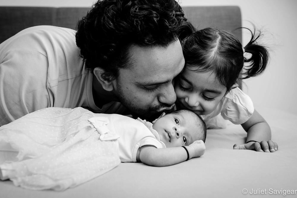 Kisses for newborn baby