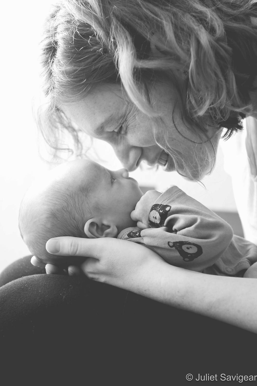 Mother & newborn baby