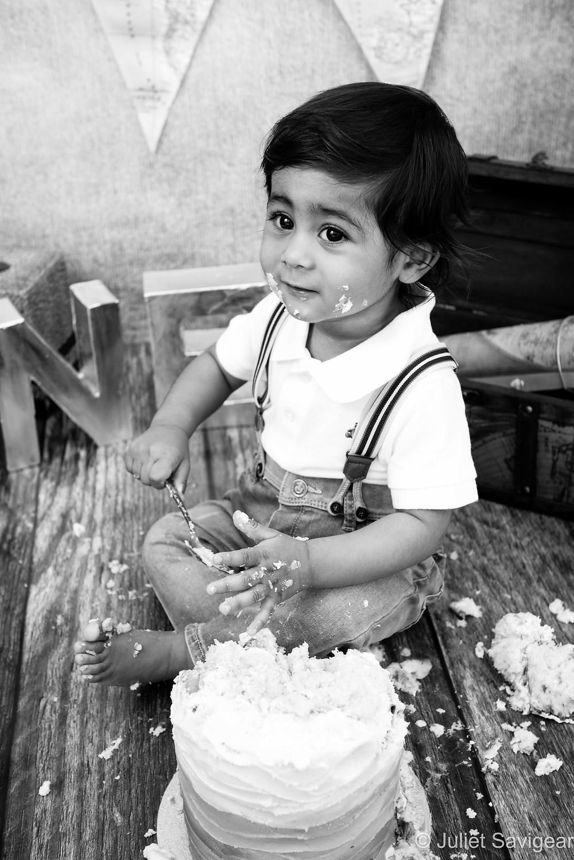 Cake Smash - First Birthday Photography, Wimbledon