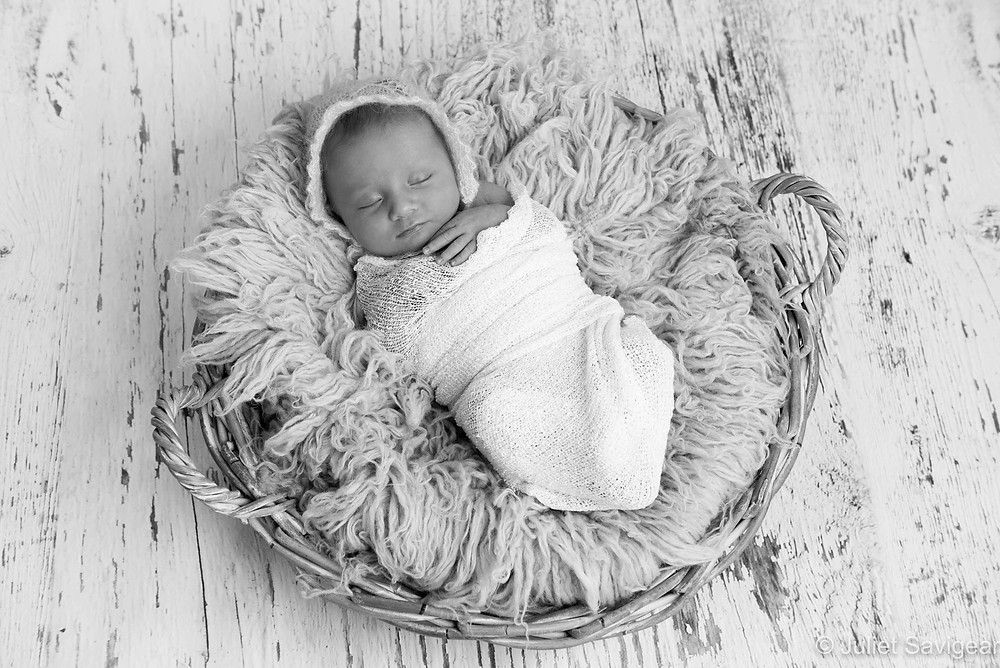 Baby In Basket - Newborn Baby Photography, Tooting