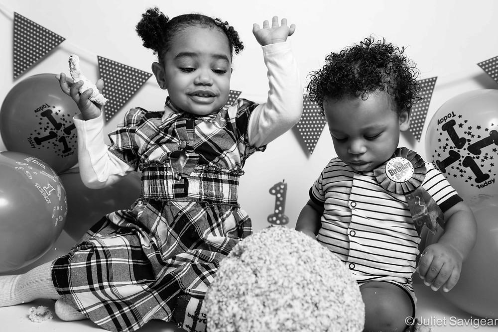 Children's Photography - First Birthday Cake Smash - Brixton