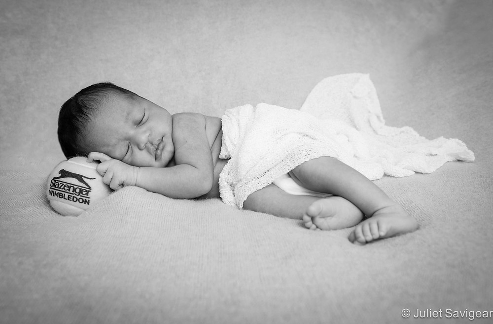 Tennis Baby - Newborn Baby Photography, Fulham