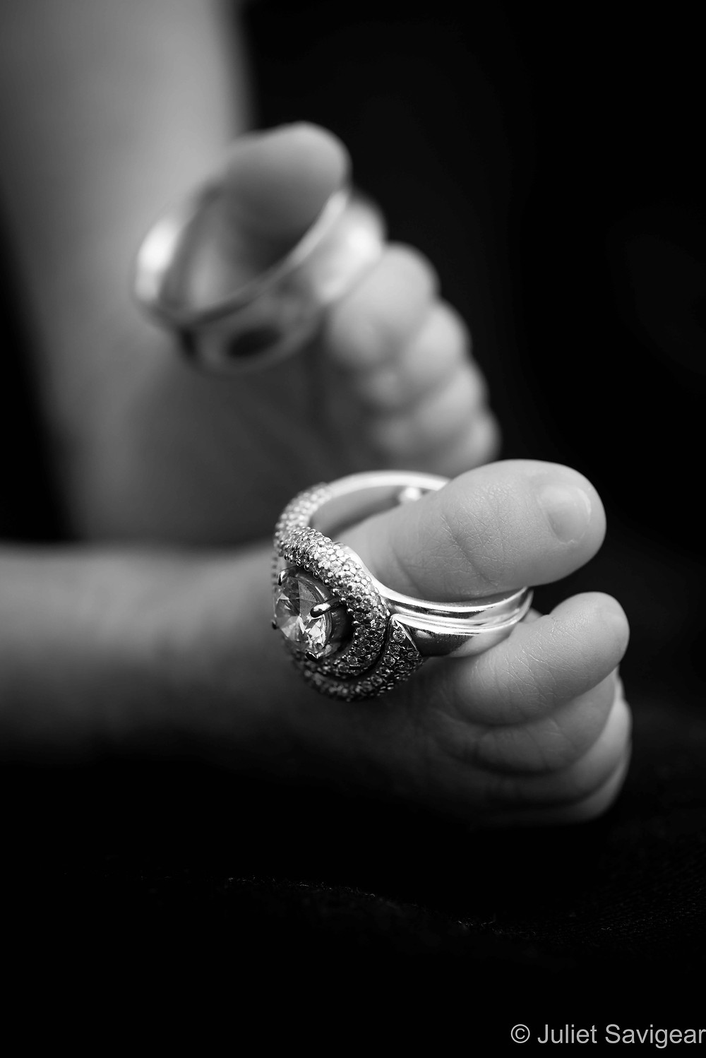 Wedding Rings - Newborn Baby Photography, Colliers Wood
